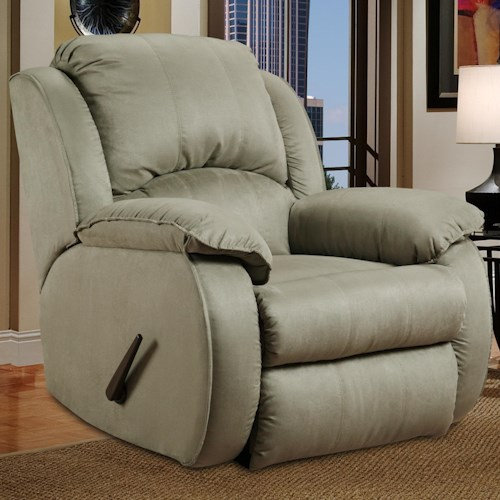 Belfort Motion Cagney Powerized Rocker Recliner with Pillow Arms
