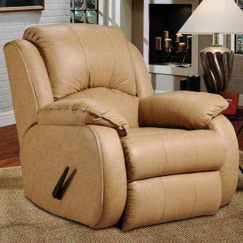 Southern Motion Cagney Wall Hugger Recliner with Pillows Arms