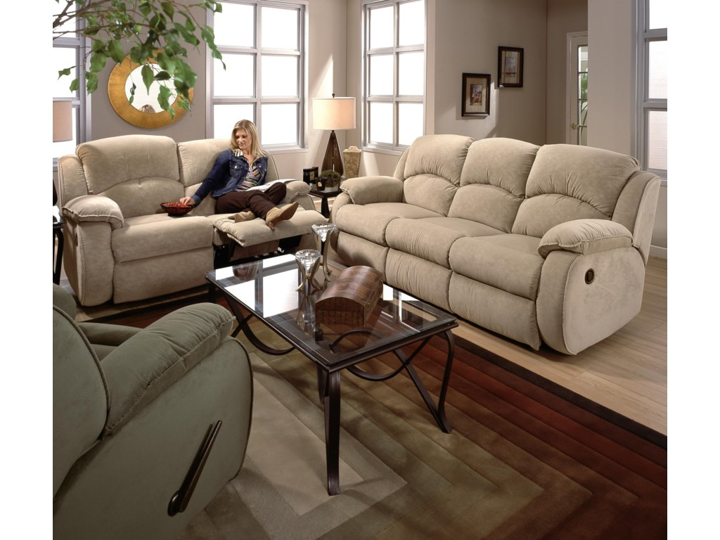 Shown Stand Alone with Double Reclining Loveseat. Sofa Shown May Not Represent Exact Features Indicated.