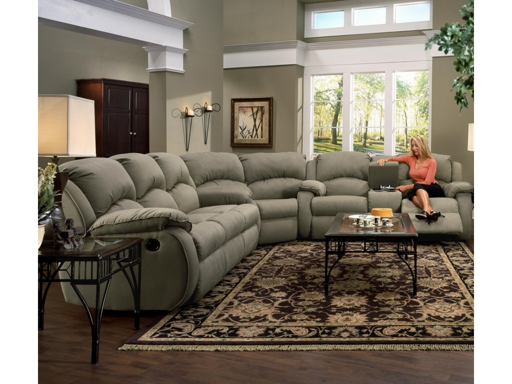 Shown as Sectional Component in Fabric Upholstery. Sofa Shown May Not Represent Exact Features Indicated.