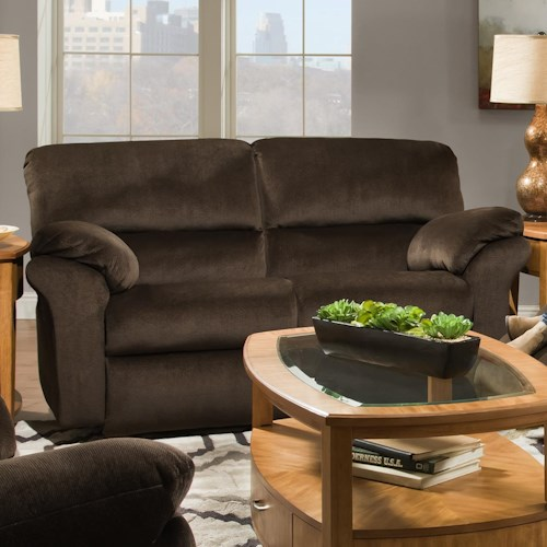 Southern Motion Cloud Nine Double Reclining Rocking Loveseat with Casual Style