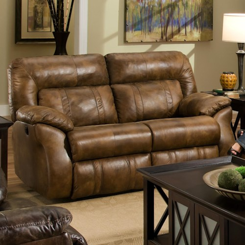 Southern Motion Cosmo Double Reclining Loveseat for Family Rooms