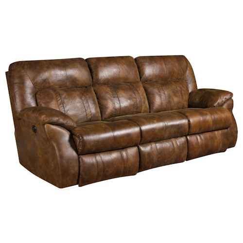 Southern Motion Cosmo Power Double Reclining Sofa for Family Rooms