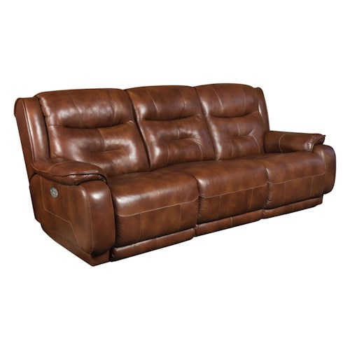 Design to Recline Crescent Double Reclining Sofa with Power Headrest