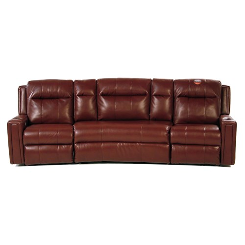 Design to Recline Royce Power Reclining Theater Seat Sectional