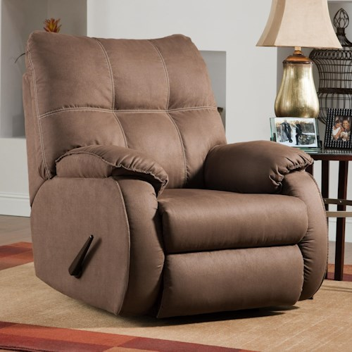 Design to Recline Dodger Rocking Recliner Swivel Chair