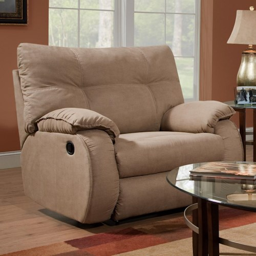 Design to Recline Dodger Plush Chair and a Half Recliner
