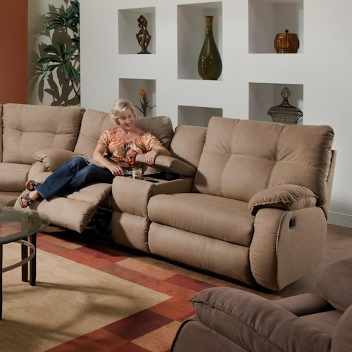 Design to Recline Dodger Reclining Console Sofa