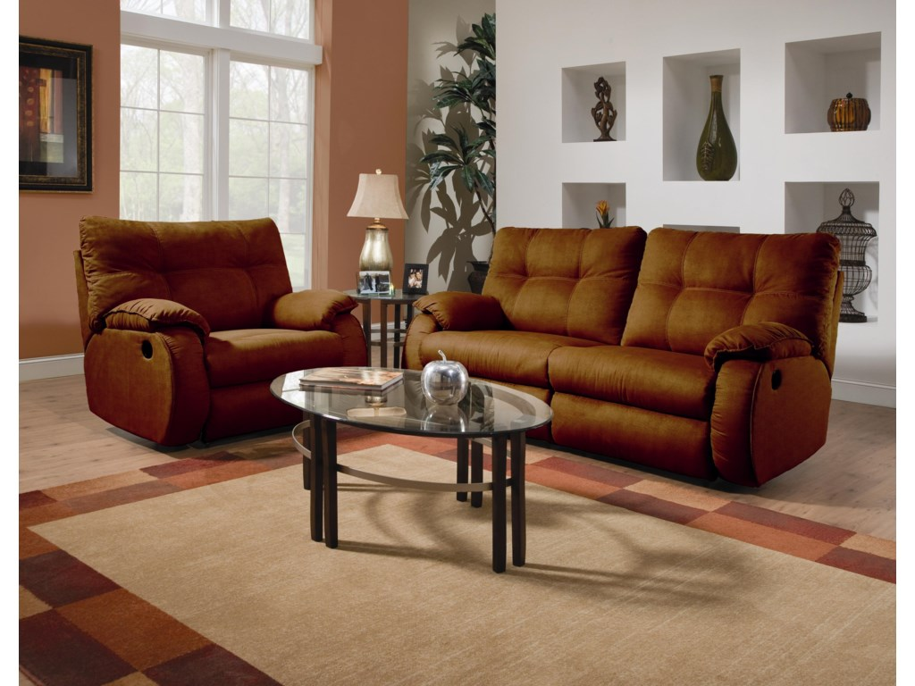 Shown with Coordinating Reclining Chair and a Half