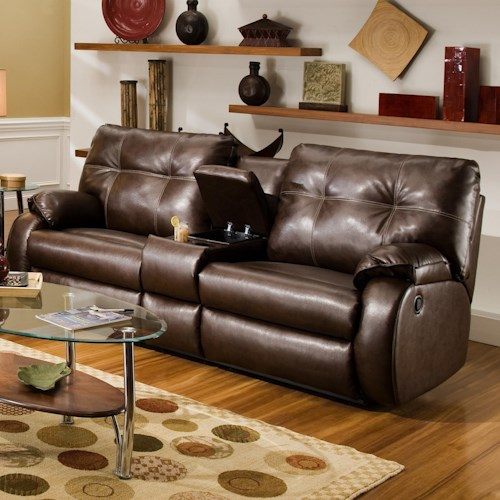 Southern Motion Dodger Reclining Console Sofa