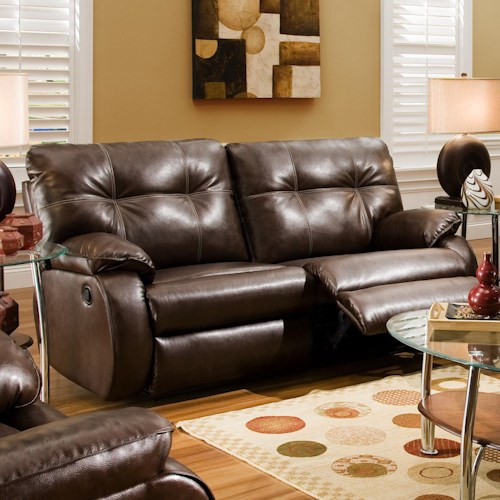 Southern Motion Dodger Plush Pillow Top Reclining Sofa