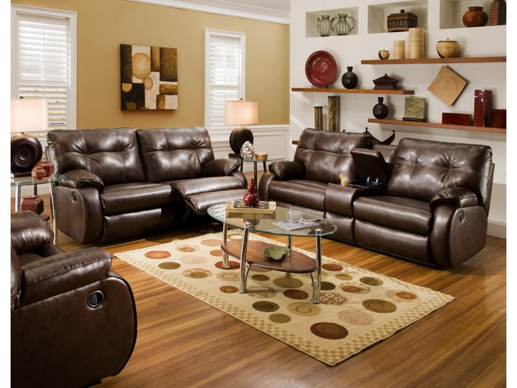 Shown with the Reclining Console Sofa