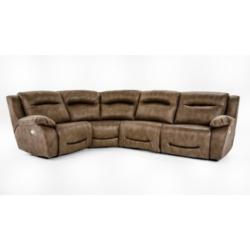 Southern Motion Eclipse Four Piece Power Reclining Sectional with Power Headrests