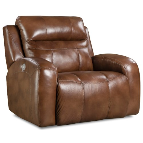 Southern Motion Flight Contemporary Power Reclining Chair and a Half with Power Headrest
