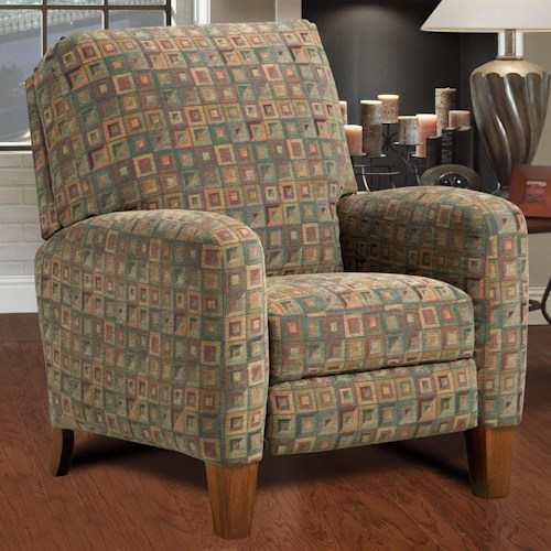 Design to Recline Hi-Leg High Leg Recliner with Track Arms