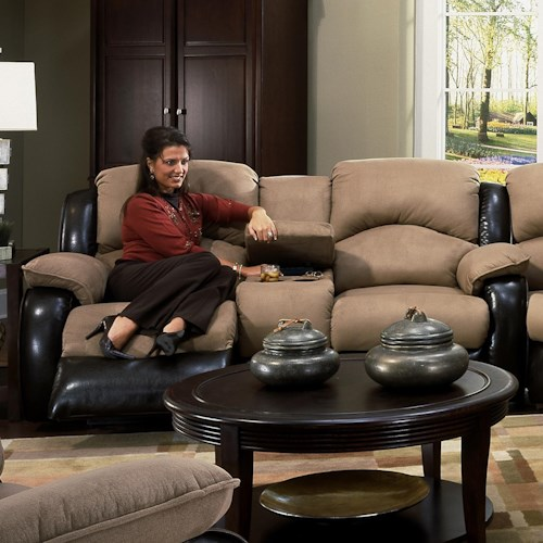 Southern Motion Jolson Reclining Console Sofa
