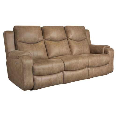 Southern Motion Marvel Double Reclining Sofa with Power Headrests