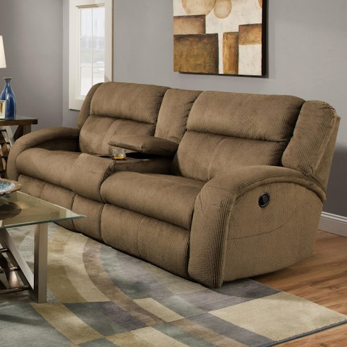 Southern Motion Maverick  Console Sofa with Contemporary Style