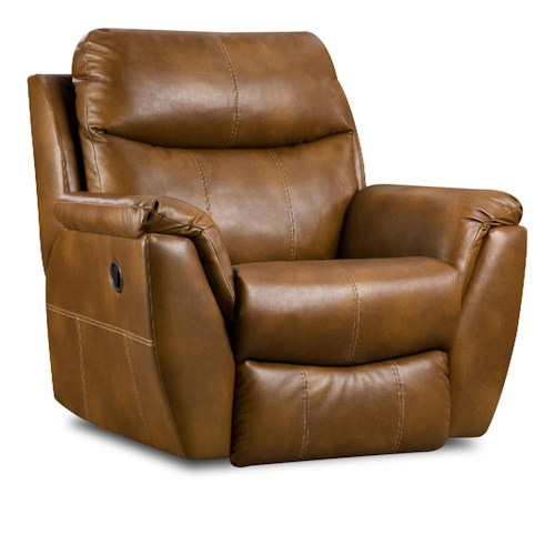 Southern Motion Monaco Rocker Recliner with Pillow Arms
