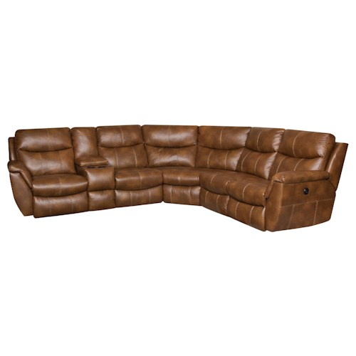 Southern Motion Monaco Reclining Sectional Sofa with 5 Seats