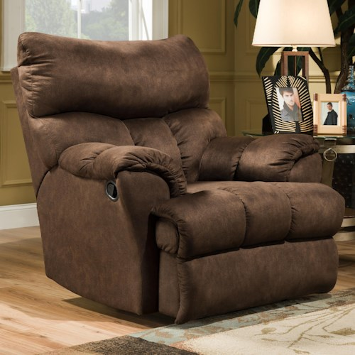 Southern Motion Re-Fueler  Casual Styled Rocker Recliner for Family Room Comfort