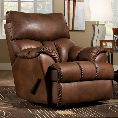 Southern Motion Re-Fueler  Powerized Casual Styled Rocker Recliner for Family Room Comfort