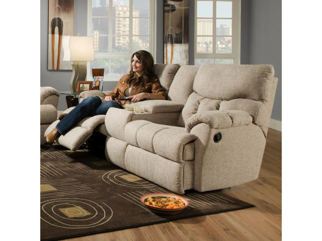 Console Sofa Shown May Not Represent Exact Features Indicated