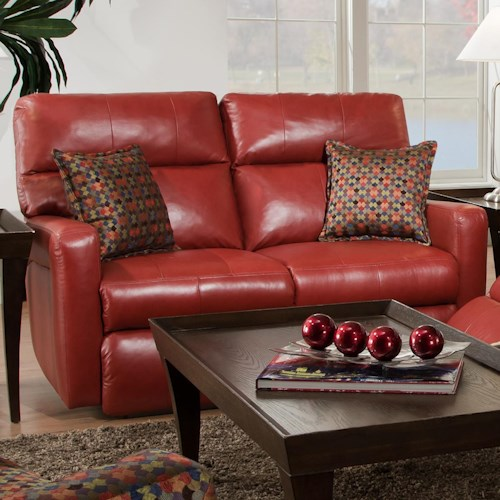 Southern Motion Savannah  Double Reclining Loveseat for Contemporary Family Rooms