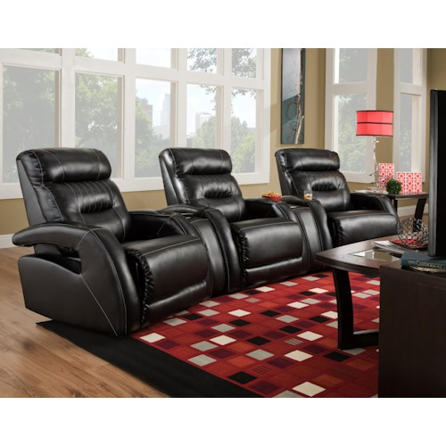Southern Motion Viva Theater Seating Sectional with Modern Style