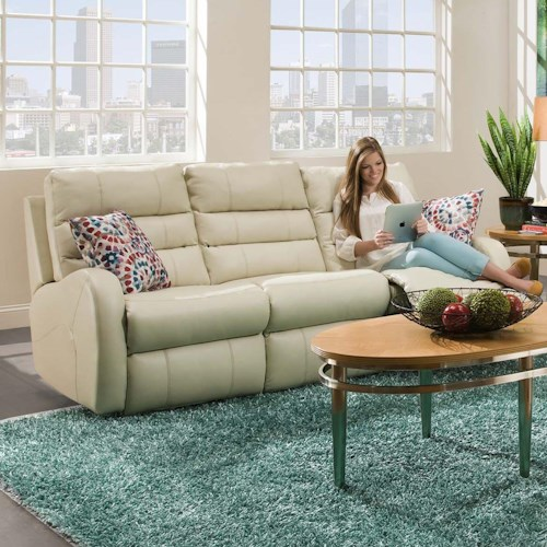 Southern Motion Wonder Double Reclining Sofa with 2 Pillows
