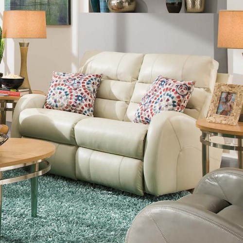 Southern Motion Wonder Double Reclining Rocking Loveseat with 2 Pillows