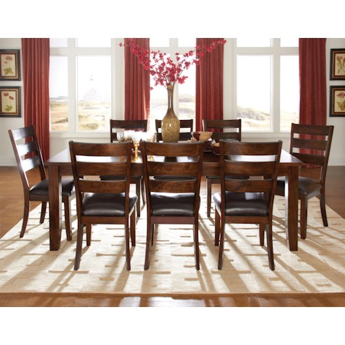 Standard Furniture Abaco 9 Piece Rectangular Table & Upholstered Chair Set