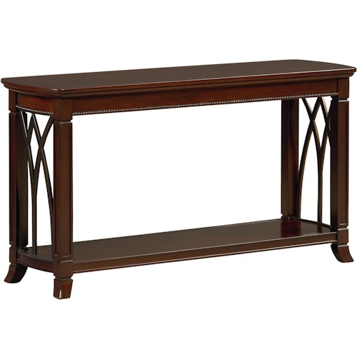 Standard Furniture Abbey Sofa Table with Shelf