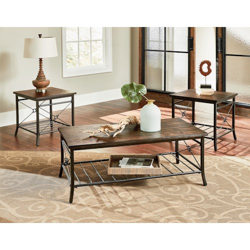 Standard Furniture Ainsley Three Pack of Transitional Accent Tables