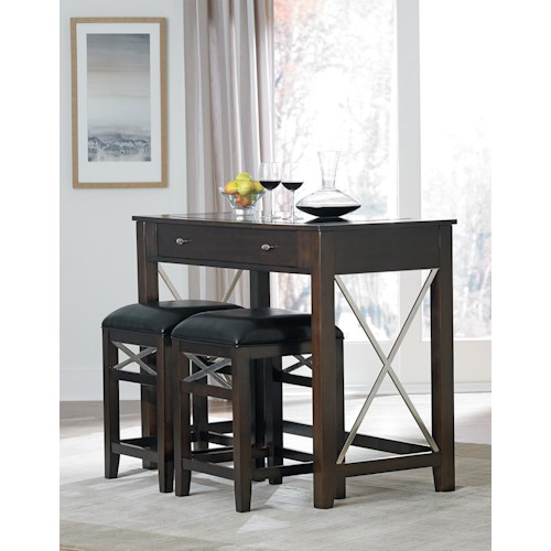 Standard Furniture Alexander Wine Bar and Stool Set
