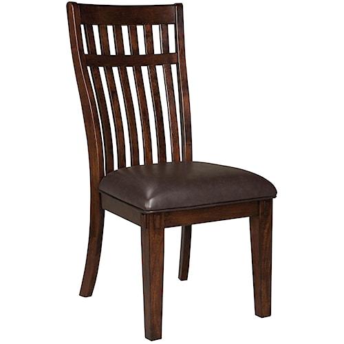 Standard Furniture Artisan Loft Upholstered Side Chair with Vertically Ganged Slats