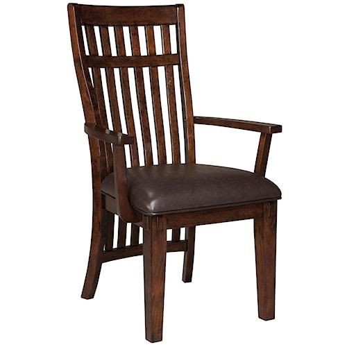 Standard Furniture Artisan Loft Upholstered Arm Chair with Vertical Ganged Slat Back