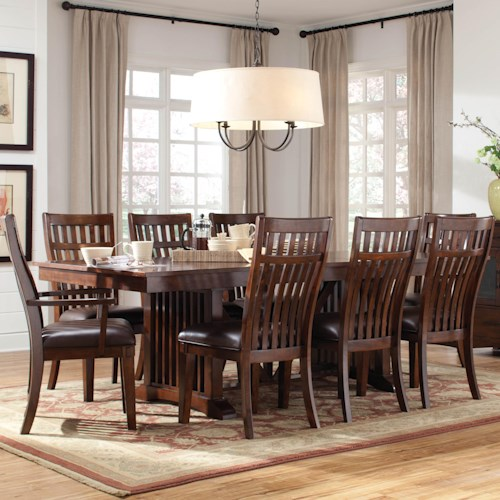 Standard Furniture Artisan Loft 9 Piece Table & Chair Set