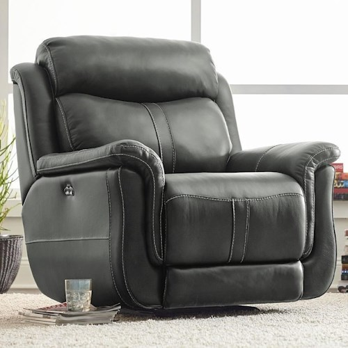 Standard Furniture Ashton Power Glider Recliner with Pillow Top Arms