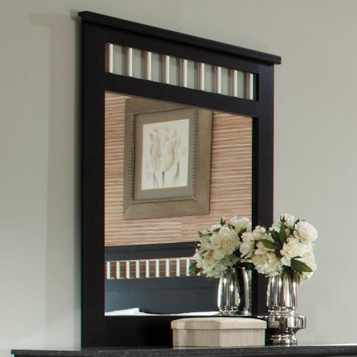 Standard Furniture Atlanta Panel Mirror with Vertical Tubular Bars