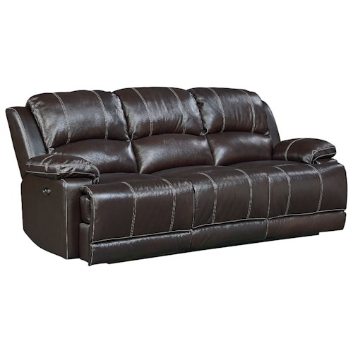 Standard Furniture Audubon Reclining Leather Sofa