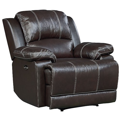 Standard Furniture Audubon Reclining Leather Rocker