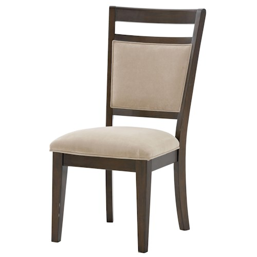 Standard Furniture Avion  Side Chair with Upholstered Seat and Back with Ladder Back Wood Detailing