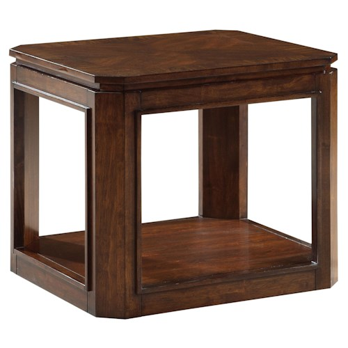 Standard Furniture Avion  Transitional End Table with Shelf