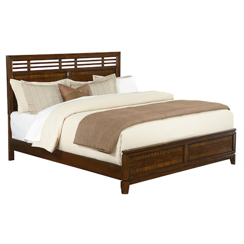 Standard Furniture Avion  Queen Panel Bed with Linear Lattice Inserts