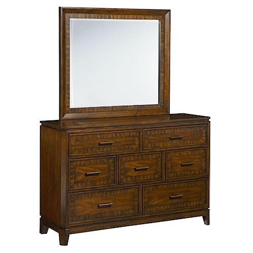 Standard Furniture Avion  7 Drawer Dresser with Mirror