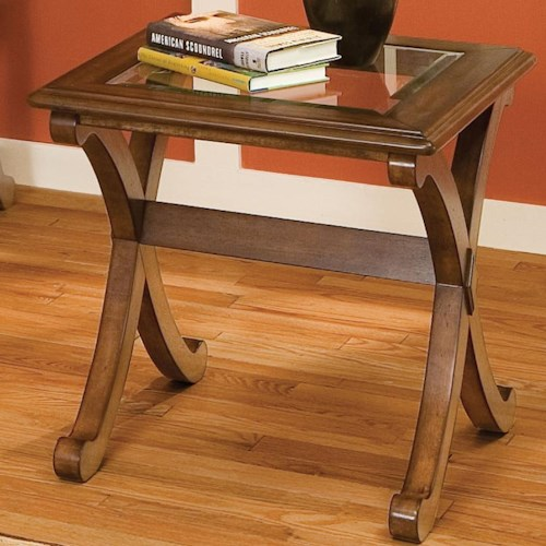 Standard Furniture Madrid End Table With Glass Top