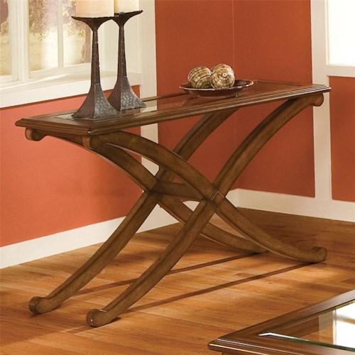 Standard Furniture Madrid Sofa Table With Glass Top