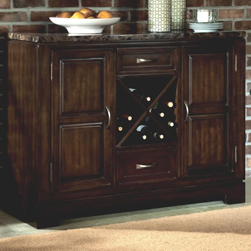 Standard Furniture Bella Server with Faux Marble Top