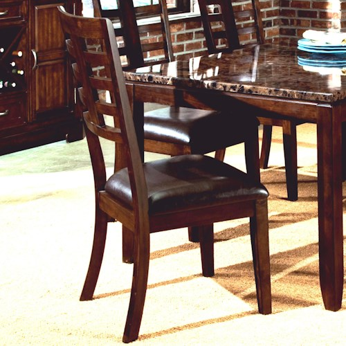 Standard Furniture Bella Dining Side Chair with Upholstered Seat